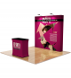 8ft Straight Fabric Pop Up Display