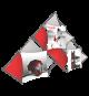 Xclaim 14ft 10 Quad Pyramid Fabric Popup Display Kit 02