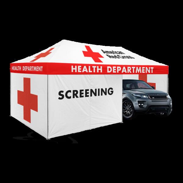 10x20 Enclosed Drive-Thru Screening Tent