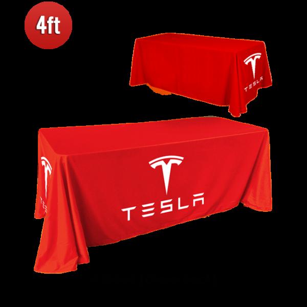 4ft - 4 Sided Custom Full Color Table Cover