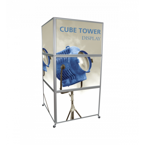 Cube Tower Display - Silver