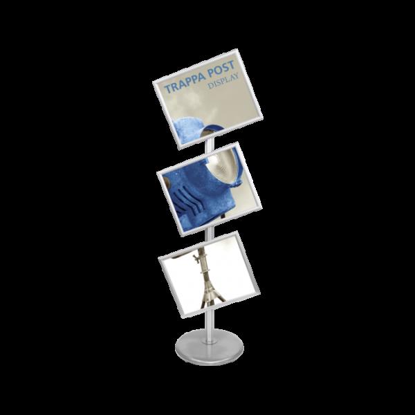 Trappa Post Sign Stand - Silver