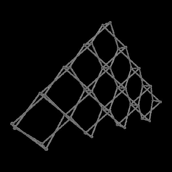 Xclaim 14ft 10 Quad Pyramid Fabric Popup Display Frame
