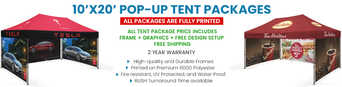 Tent Packages - 10'X20'